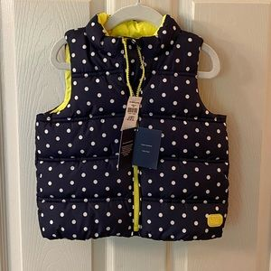 Gap Navy Polka Dotted Vest - NEW!